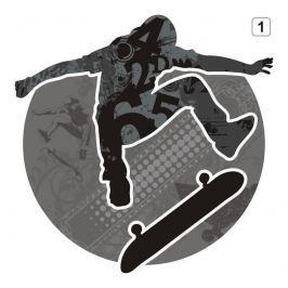 naklejka wielokolorowa skater 1300