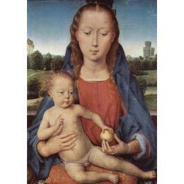 Reprodukcja Portinari-Triptychon, Mitteltafel Madonna, Hans Memling