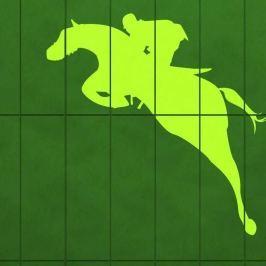 szablon malarski jeździec 1158
