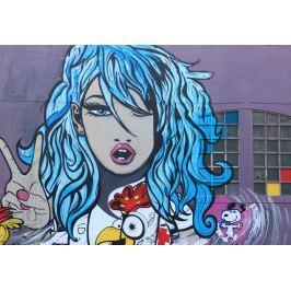 Fototapeta na ścianę kobieta z niebieskimi włosami  FP 5237