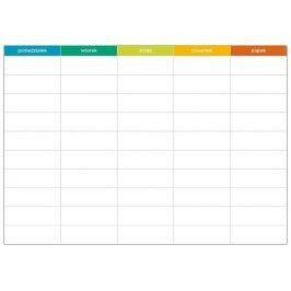 tablica suchościeralna lean planer tygodniowy 060