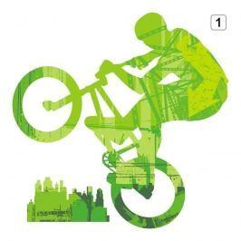 naklejka wielokolorowa rower 1302