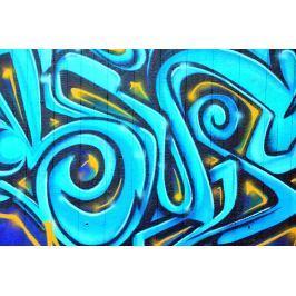 Fototapeta na ścianę dwukolorowe graffiti FP 3470
