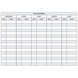 tablica magnetyczna suchościeralna lean plan spotkań 087