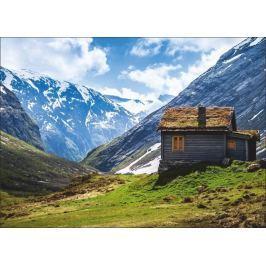 obraz domek w górach P455