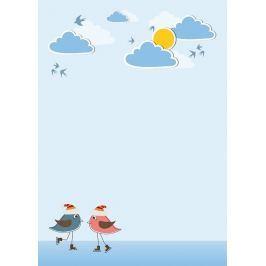 tablica suchościeralna 132 ptaszki chmurki