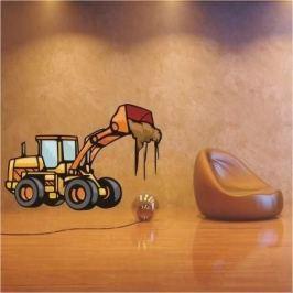 naklejka buldożer 36