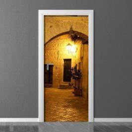 Fototapeta na drzwi miasto nocą P43