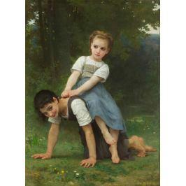 Reprodukcja La Bourrique, William-Adolphe Bouguereau