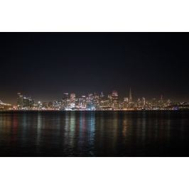 Obraz kolorowe miasto nocą FP 2299 P