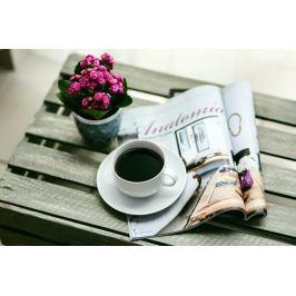 Obraz popołudniowa kawa z gazetą Fp 1169 P