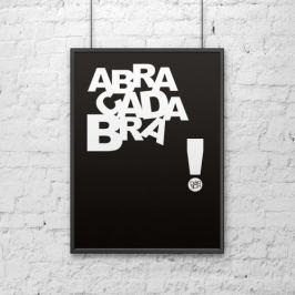 Plakat dekoracyjny 50x70 cm ABRACADABRA DekoSign czarny DS-PL3-1