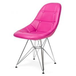 Krzesło Eko Silver (amarantowe) KingHome