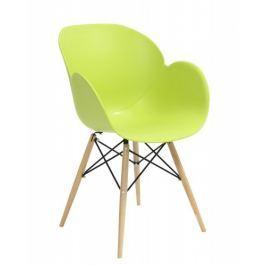 Fotel, krzesło Flower DSW Premium (zielone) KingHome