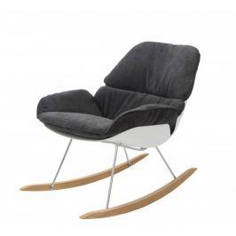 Fotel bujany Nino (ciemnoszary/biały) KingHome