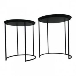 Zestaw stolików VIDO czarny - metal