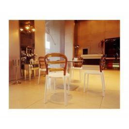 Krzesło Miss Bibi (biało-bursztynowe) D2