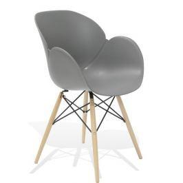 Fotel, krzesło Flower DSW Premium (szare) KingHome