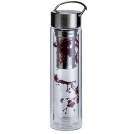 Butelka szklana 350 ml na herbatę z pokrowcem Eigenart Kwiat Wiśni EA-3437211