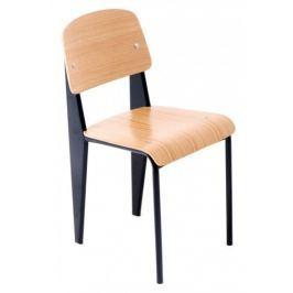 Krzesło School (czarno-drewniane) D2